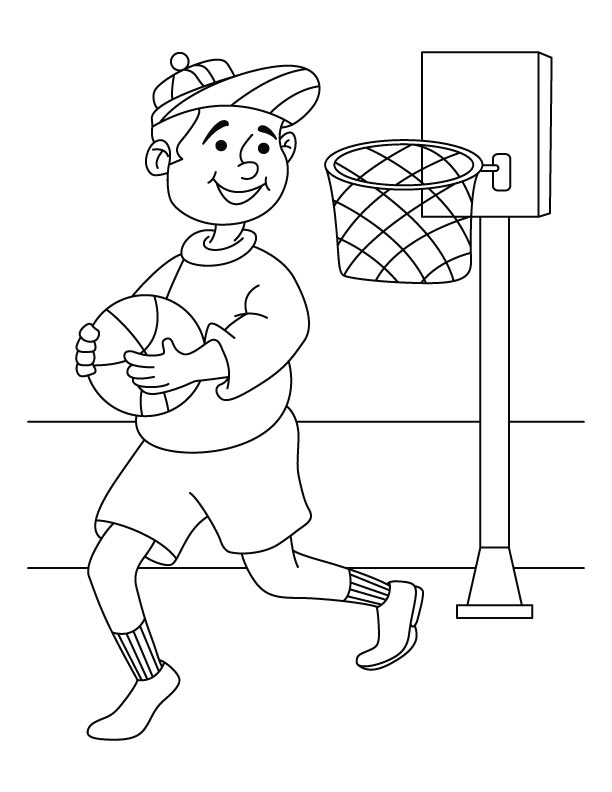 Basketball Player Coloring Page Download Free Basketball