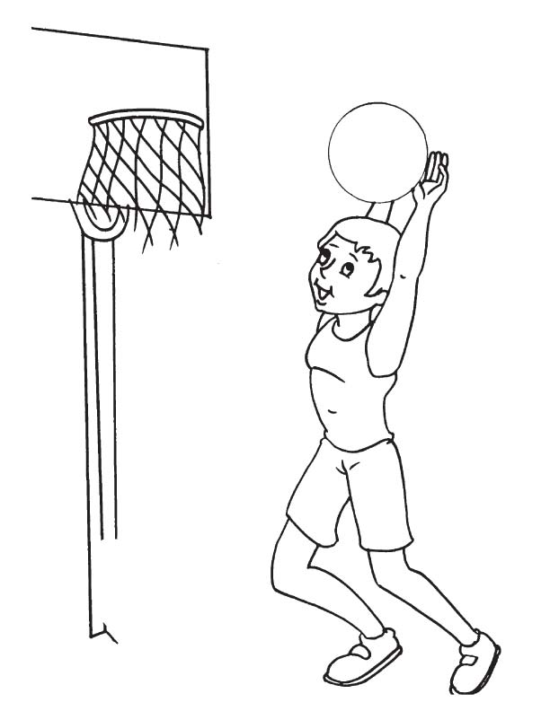 basketball practice coloring page 1