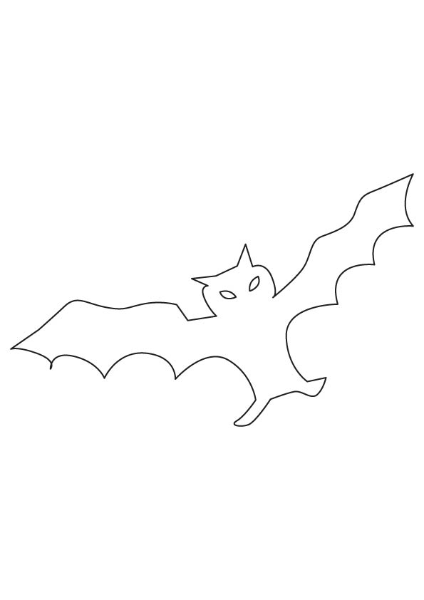Bat bird outline coloring page