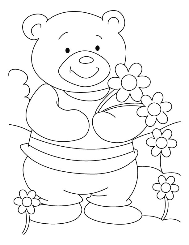 Bear Cheer Coloring Pages