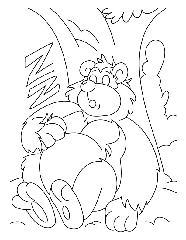Sleeping bear coloring pages
