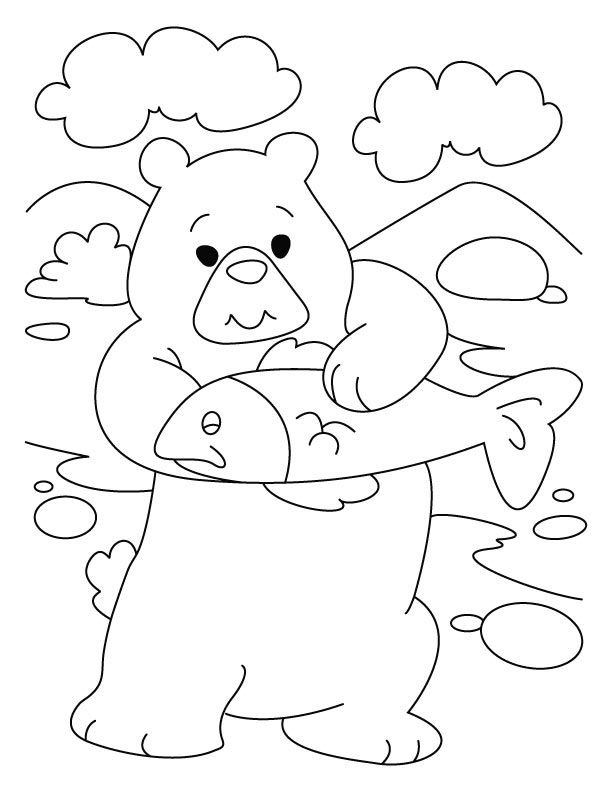 Bear introspects, dear pisces coloring pages