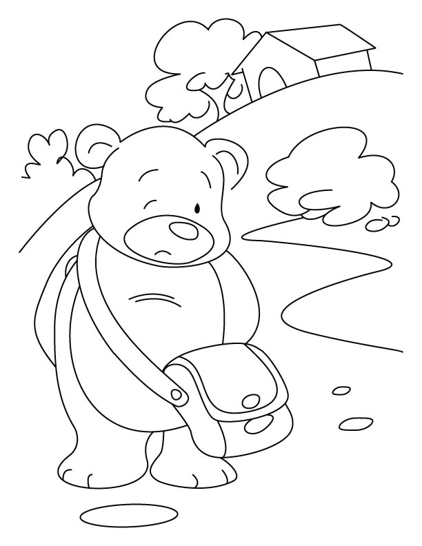 Down-hearted Bear coloring pages