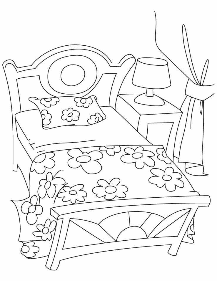 beds coloring pages - photo#19