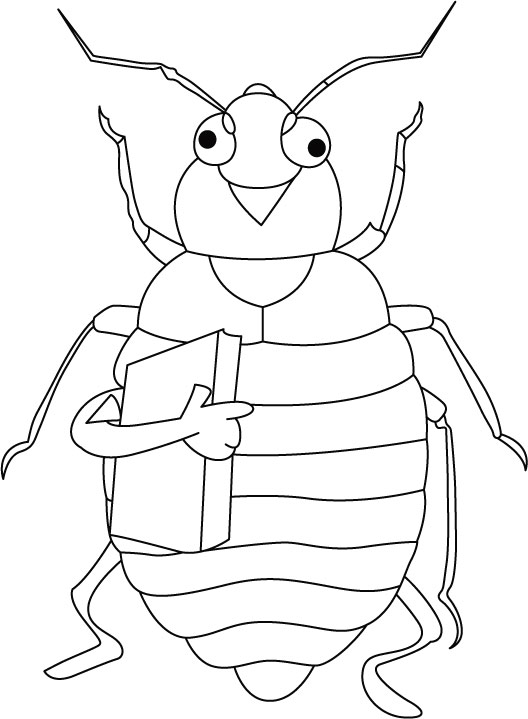 Educated and intelligent bed bug coloring pages Download Free
