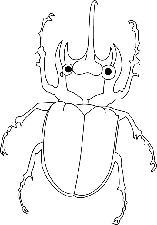 Beetle, on the way� coloring pages