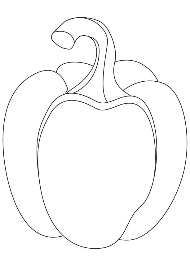 Bell pepper coloring pages