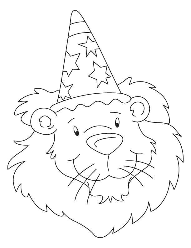 Bholu the birthday lion coloring page