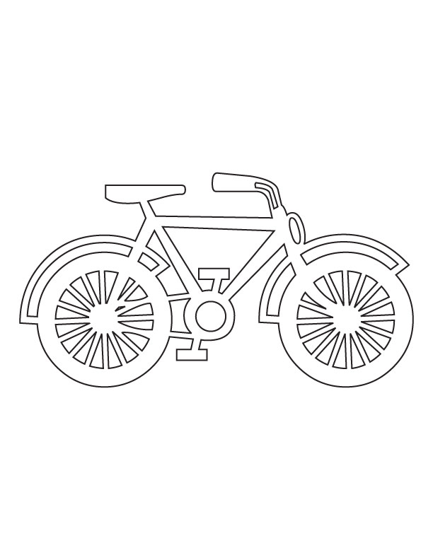 Bicycle coloring picture Download Free Bicycle coloring picture
