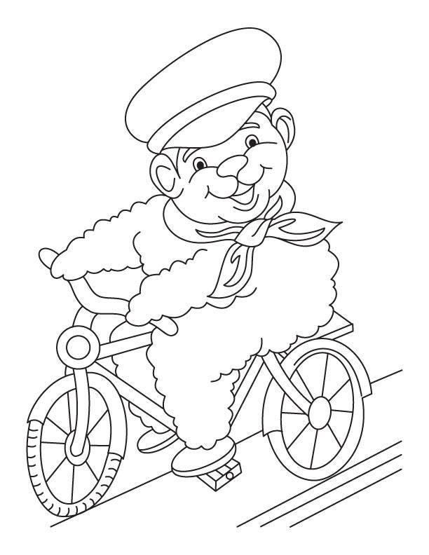 Trek bike coloring page