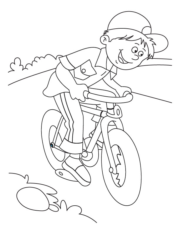 Bike Coloring Pages Simple Mountain Bike Coloring Page  Download Free Mountain Bike Coloring Inspiration Design