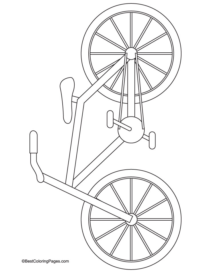 Bike Pictures To Color Street bike coloring page