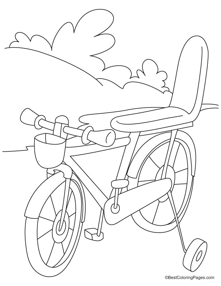 Bmx Colouring Pages : Bicycle coloring page