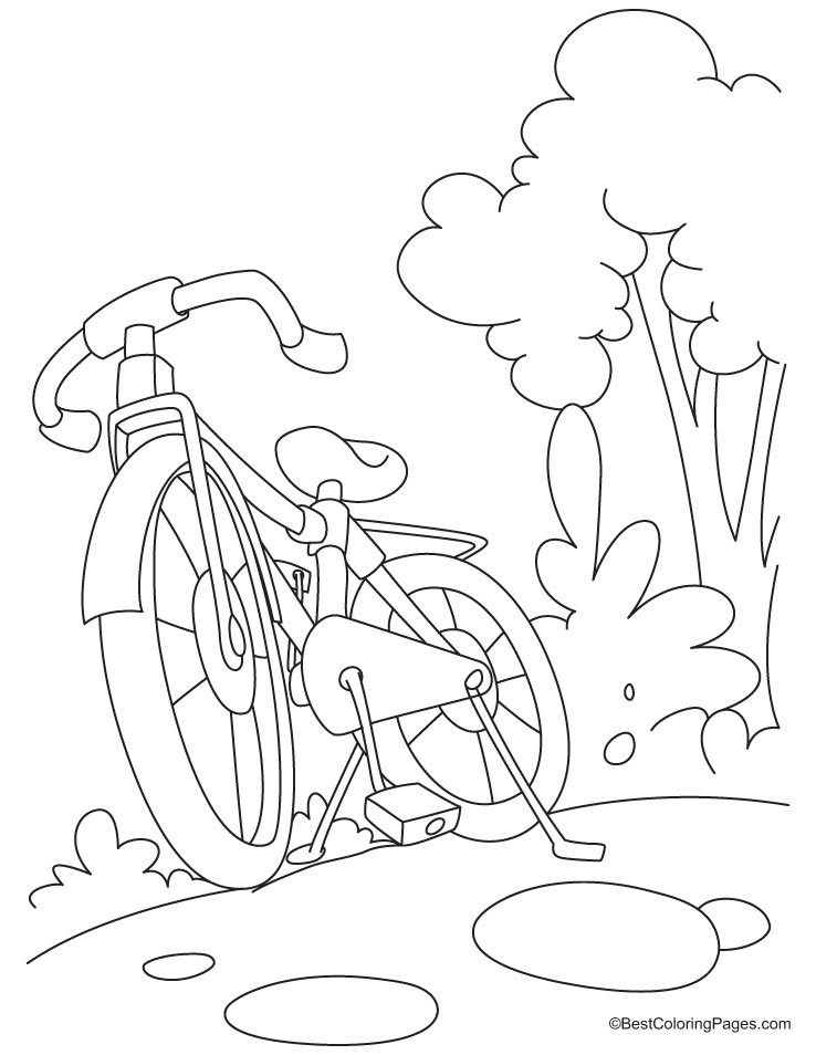 Mountain bike is for sale coloring page