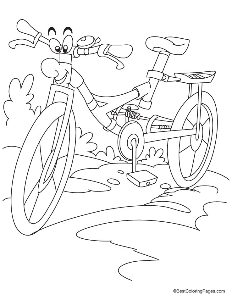 bike racing coloring pages - photo#8