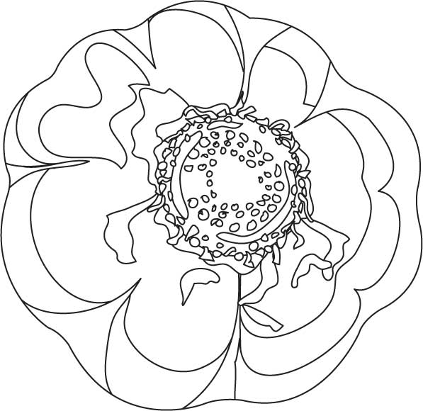 Big garlic bulb coloring page