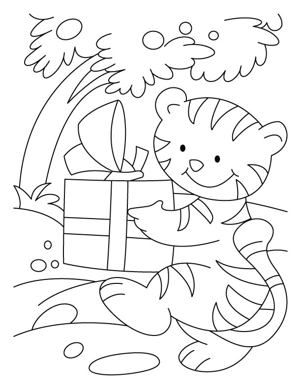 birthday cat coloring pages - photo#8