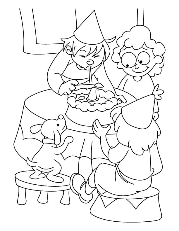 Birthday party coloring pages | Download Free Birthday party ...