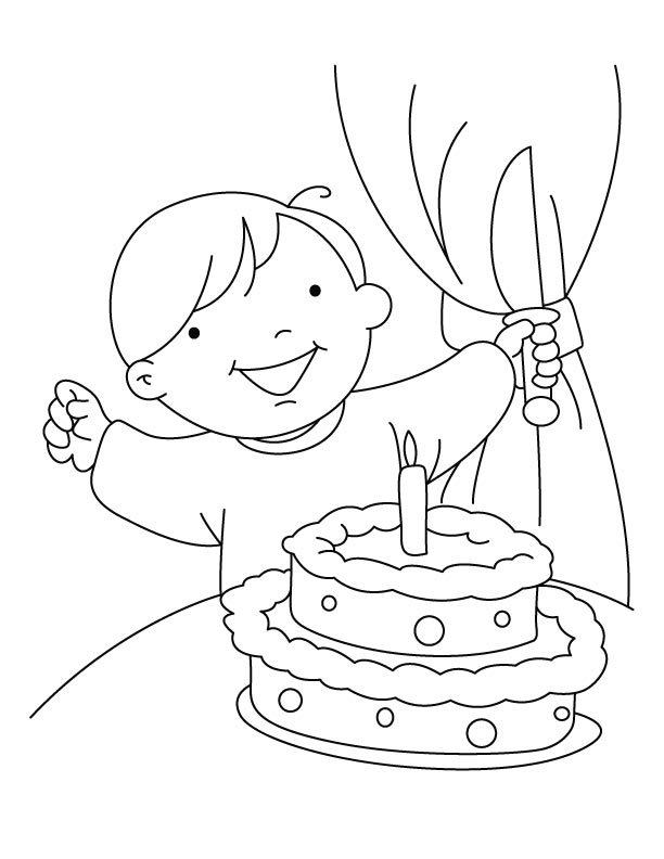 Birthday celebrations coloring pages
