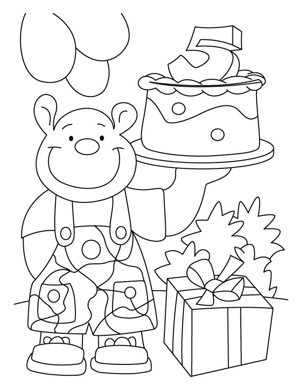 Celebrating his 5th birthday coloring pages