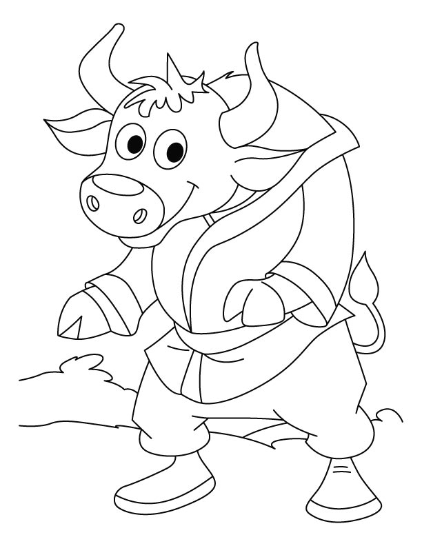 Mr Bison-KARATE CHAMPION coloring pages