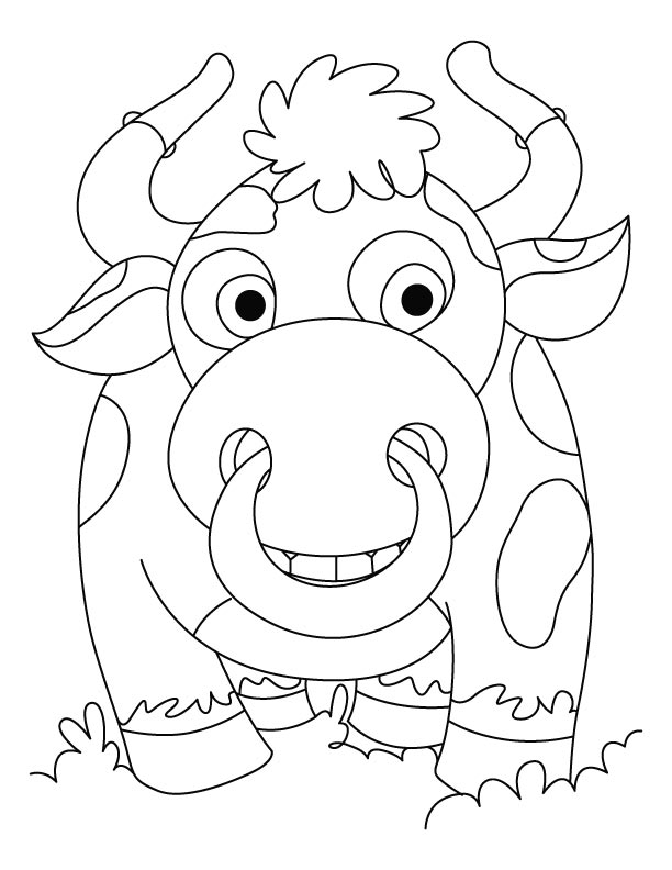Newly wed Bison coloring pages