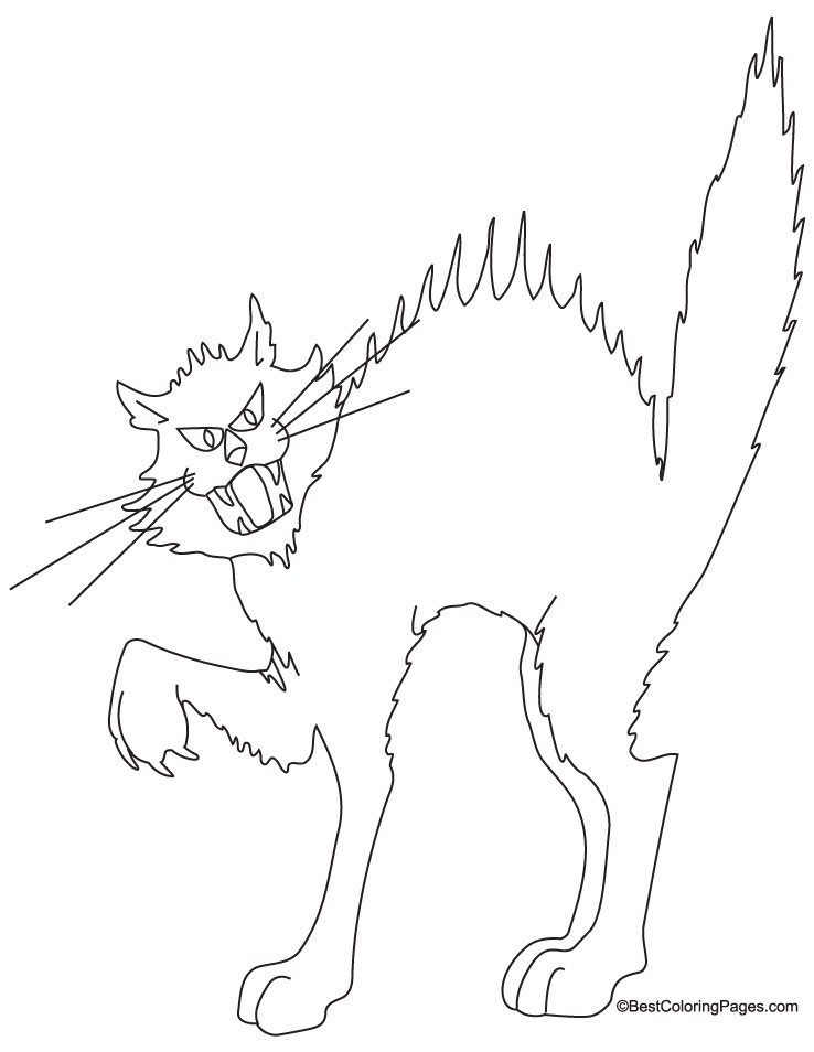 Free Coloring Pages Of Cat Bookmarks Black Cat Coloring Page