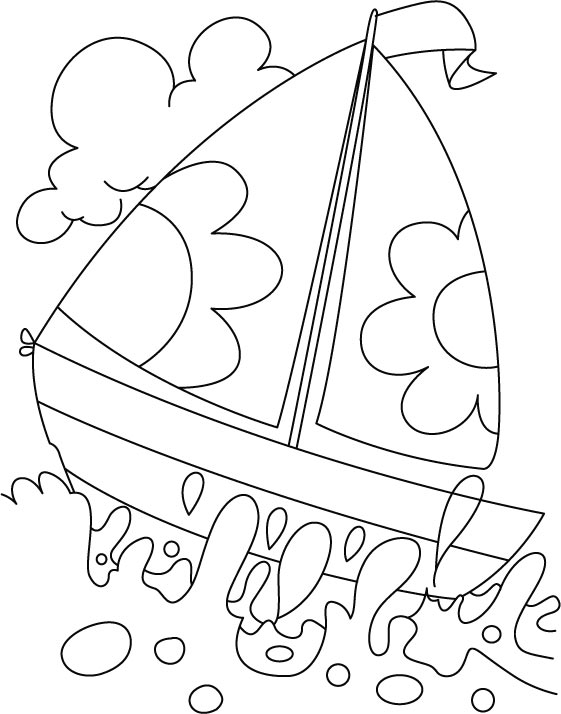 Water Coloring Pages Fair A Boat In Deep Water Coloring Page  Download Free A Boat In Deep .