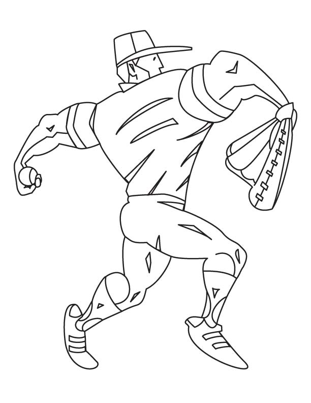 Body builder throwing ball coloring page