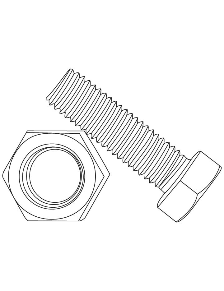 Bolt And Nut Coloring Pages Download Free Bolt And Nut