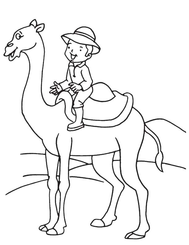 Boy on camel coloring page Download Free Boy on camel coloring