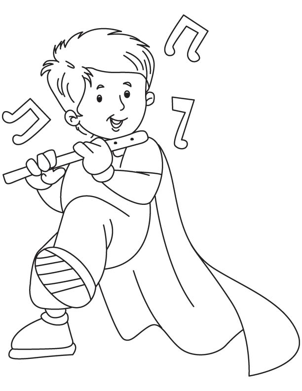 flute coloring pages - photo #21