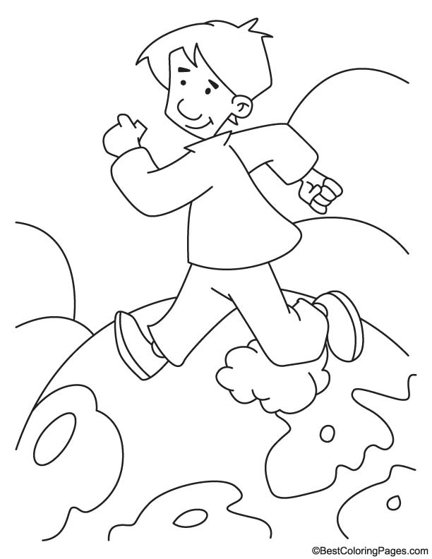 kids running coloring pages - photo#29
