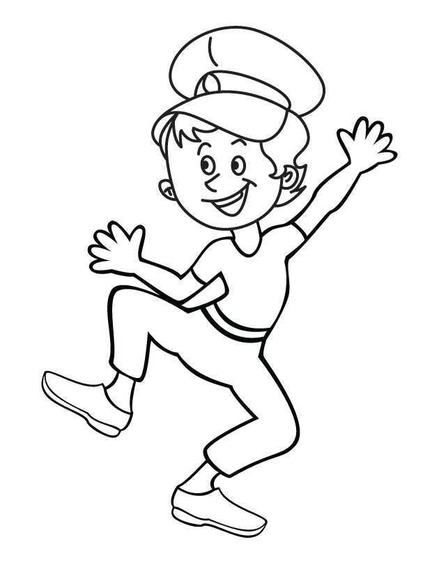 Boy singing in joyful noise coloring page