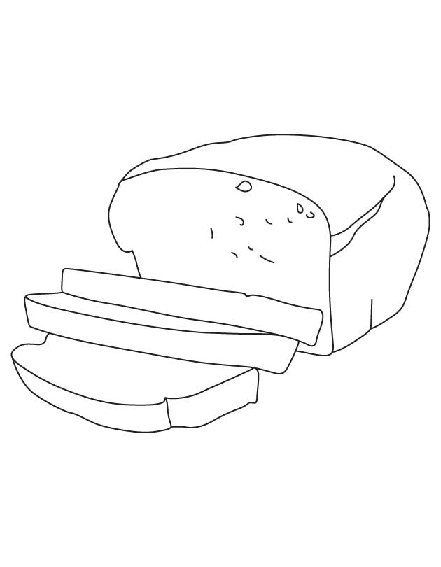Bread Coloring Page