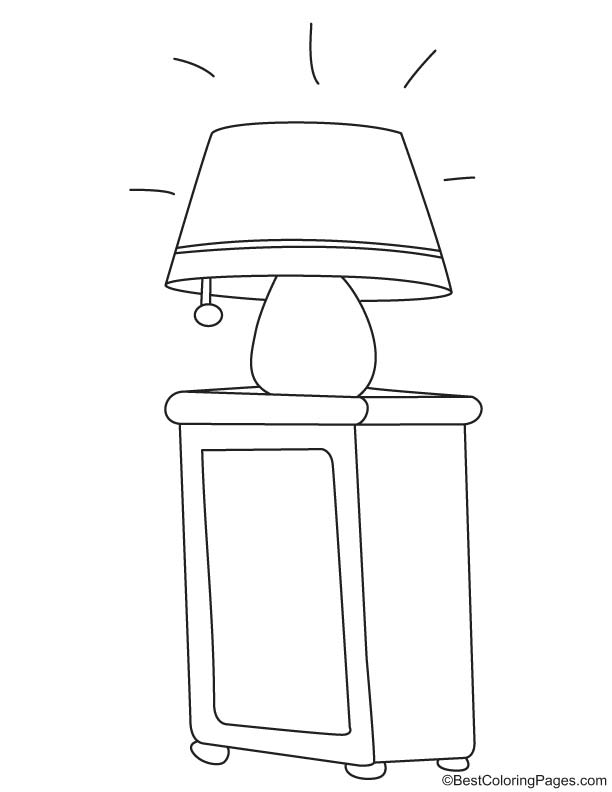 free table lamp coloring pages