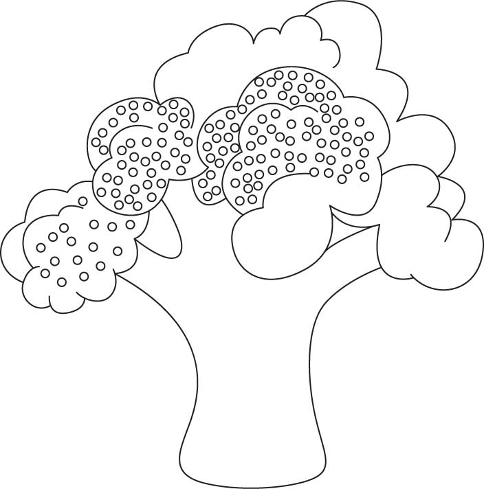 Broccoli coloring sheet