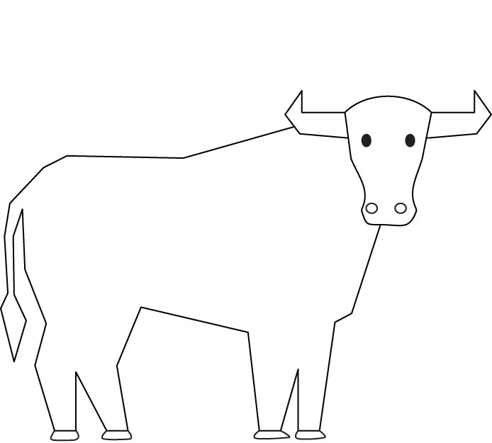Bull coloring page Download Free Bull coloring page for kids