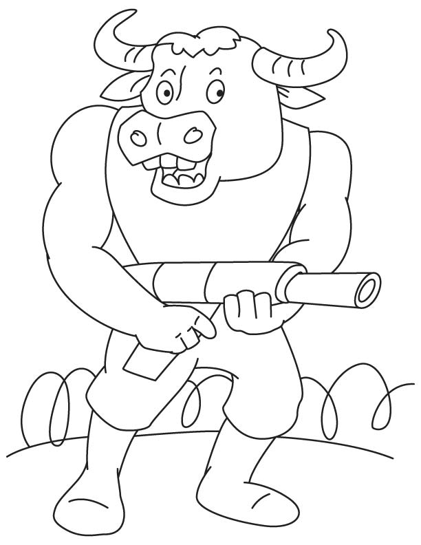 Bull Fighter Coloring Page Download Free Bull Fighter