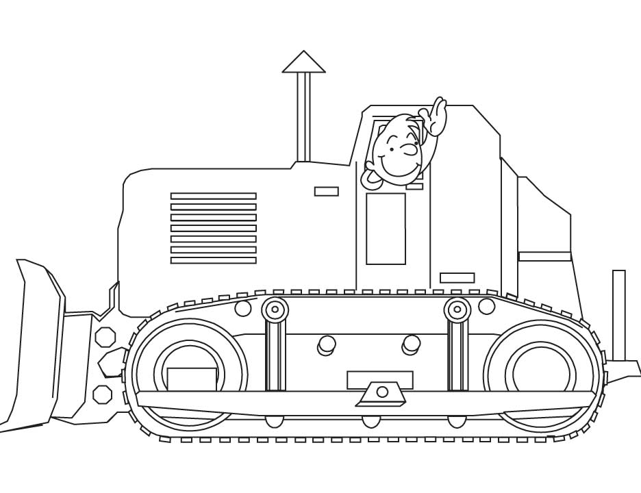 Bulldozer Coloring Pages Download Free Bulldozer