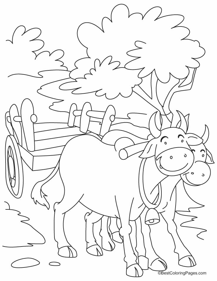 Two smiling bulls coloring pages Download Free Two smiling bulls