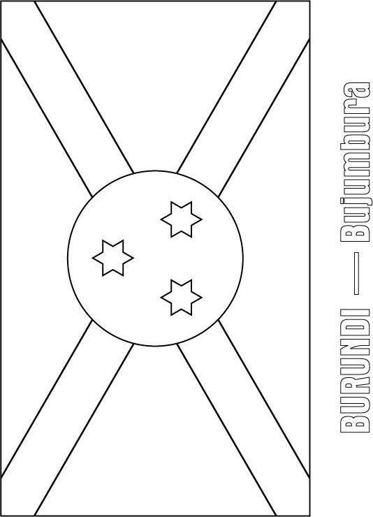 Burundi Flag Coloring Page