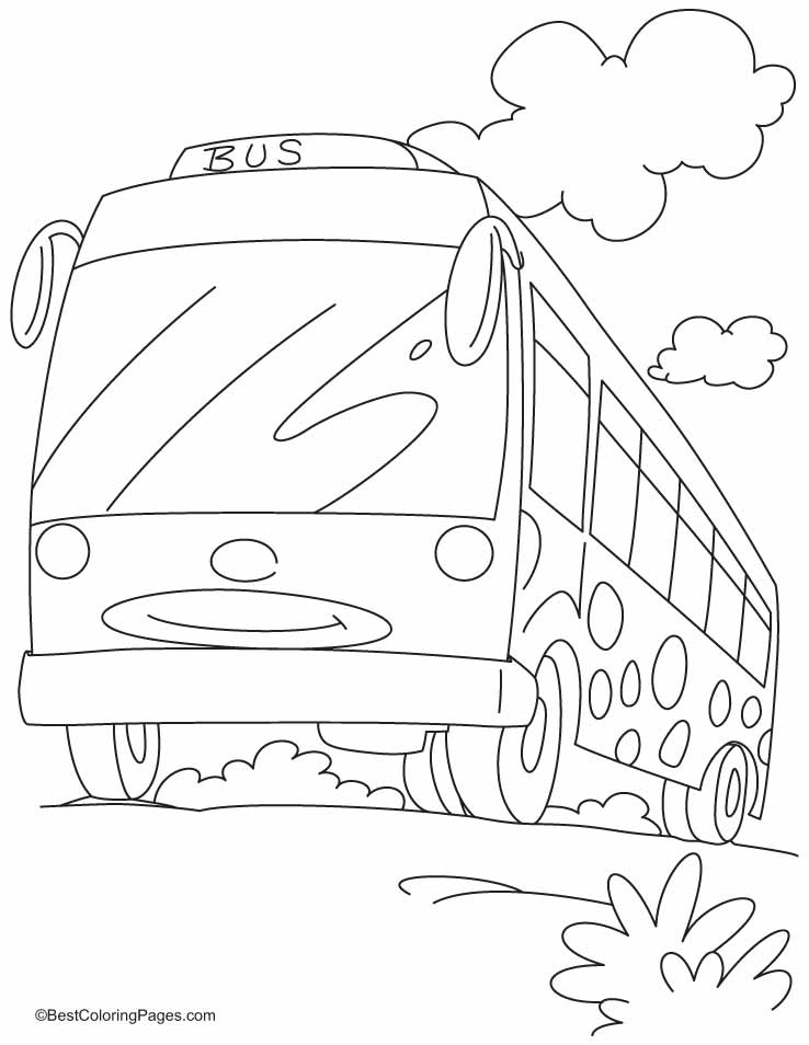 double decker bus coloring pages - photo#34