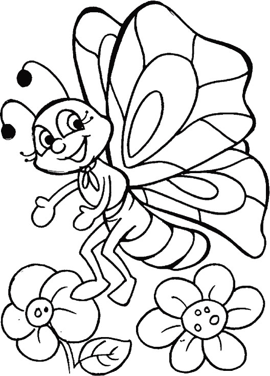 butterfly n blossom play everyday coloring pages download free - Pages Download Free