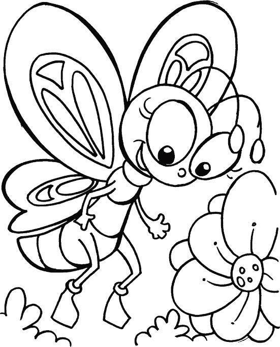 whispering butterfly coloring pages