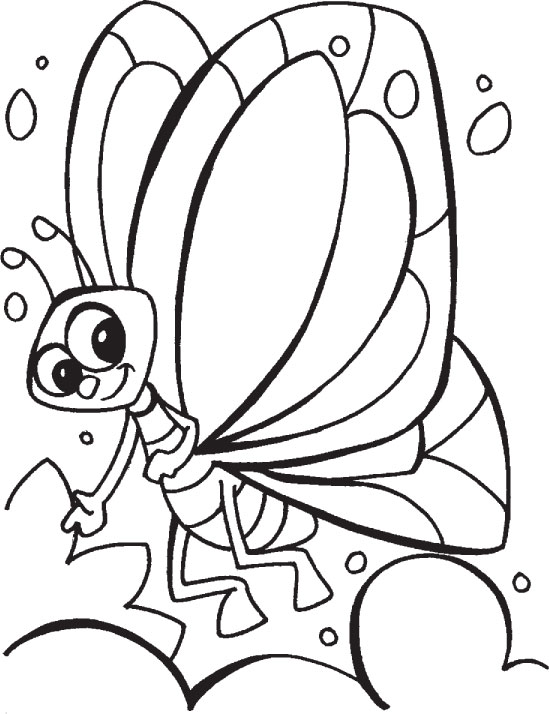 bubbly butterfly coloring pages