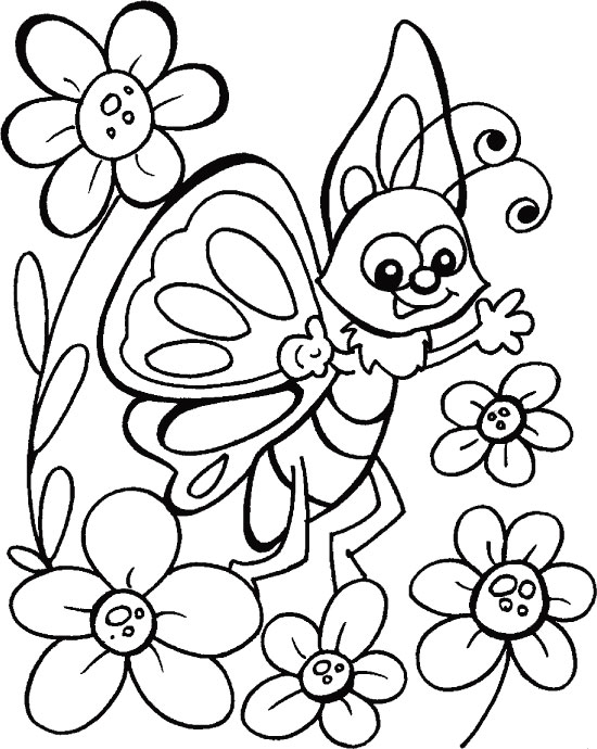 butterfly chats with truest friends coloring pages | download free ... - Coloring Pages Butterfly Kids