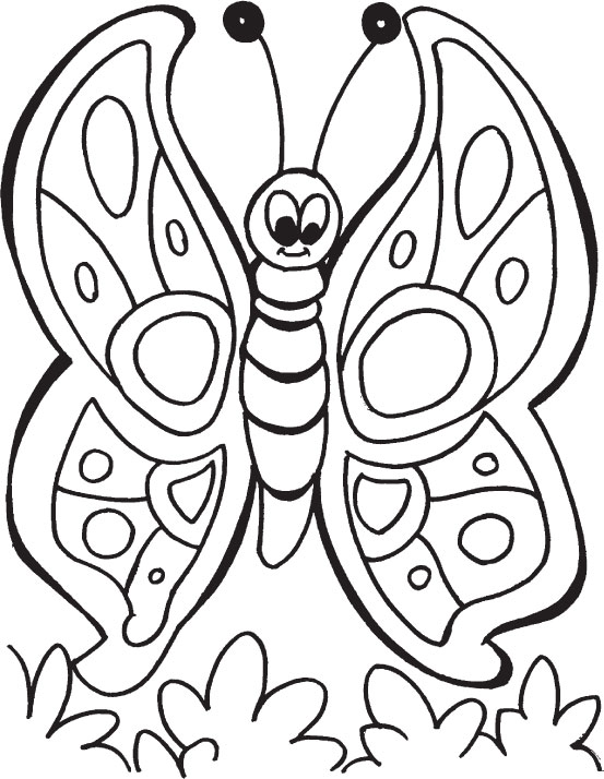the queen butterfly coloring pages