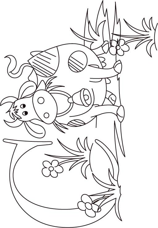 c for cow coloring page for kids - C Coloring Sheet