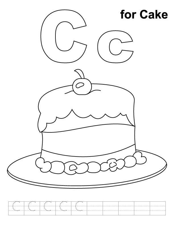 Free Coloring Pages Of C Is For Cow